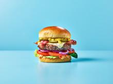 A Cheese Burger With Bacon, Sa...
