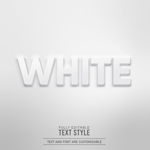 White Minimalist Simple Realistic 3D Shadow Editable Text Effect