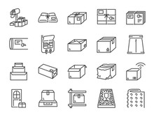 Parcel Line Icon Set. Included...