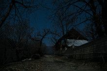 Full Moon Over Quiet Village A...