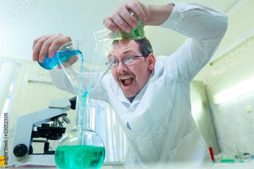 Fotografie, Tablou Chemist crazy