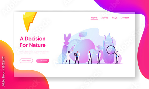 Cuadros en Lienzo New Methods of Plant Breeding and Agricultural Genetics Landing Page Template