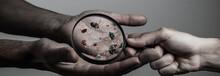 Close Up On A Sick Man Hand Th...