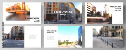 Vector layout of the presentation slides design business templates, multipurpose template for presentation brochure, brochure cover Canvas-taulu
