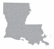 Louisiana State Counties Map