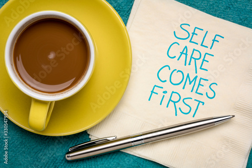 Obraz na plátně self care comes first inspirational reminder
