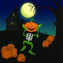 Scarecrow Skeleton Of A Funny ...