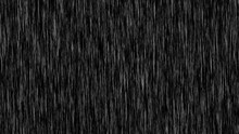 Rain Overlay Isolated In Black...