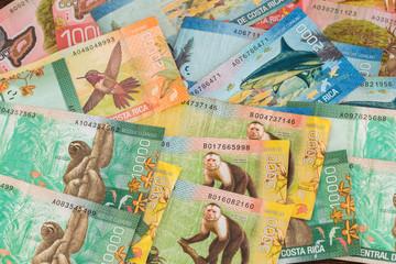 Costa rica money, colones banknotes