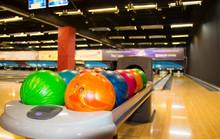 Colorful Bowling Balls. Multi-...