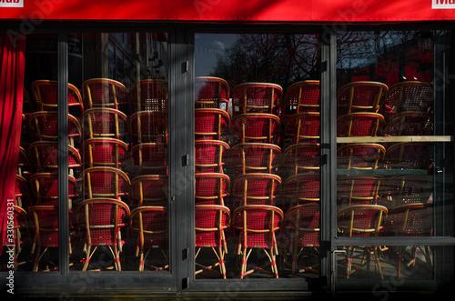 Vászonkép Fermeture des restaurants en france