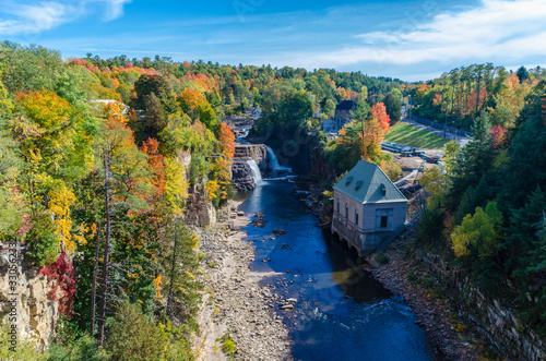 Obraz na plátně Beautiful Ausable Chasm in upstate New York during Spring time New York USA