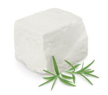Feta Cheese Isolated On White ...