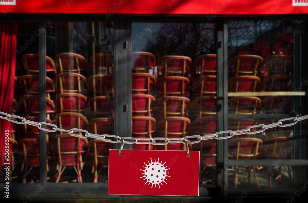 Fototapeta Fermeture des restaurants en france