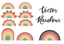 Vector Rainbow Isolated Set On...