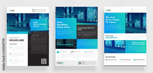 Fotografia, Obraz poster flyer pamphlet brochure cover design layout space for photo background, v