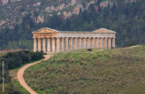 Fototapeta Doric temple of Segesta a greek temple in Sicily, Italy