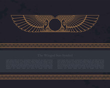 Vector Design Template Egyptia...