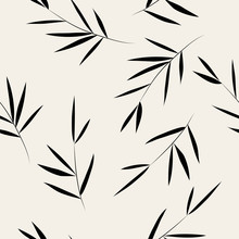 Seamless Pattern. Bamboo Leaf ...
