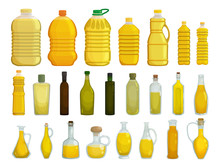 Sunflower Oil Isolated Vector ...