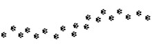 Paw Vector Foot Trail Print On...