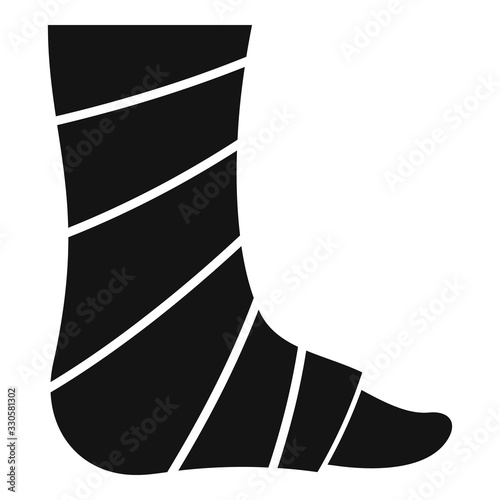 Bandage foot icon Canvas Print