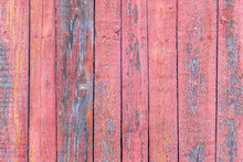Pink Wood Planks Texture Background. Old Pink Boards.