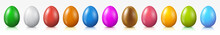 Easter Eggs Set, Collection Of Colored Eggs, Easter Symbol - Vector
