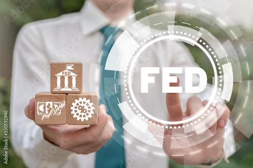 Fotografie, Tablou FED Federal Reserve Banking System Concept