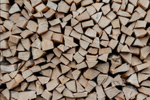 Stacks Of Firewood. Preparatio...