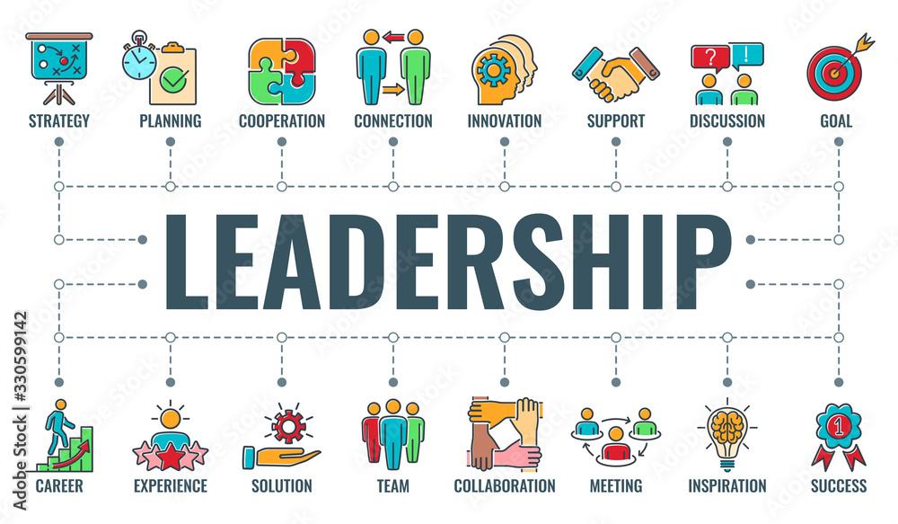 Fototapeta Leadership Collaboration Typography Banner