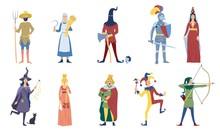 Set Of Vector Medieval Or Fair...