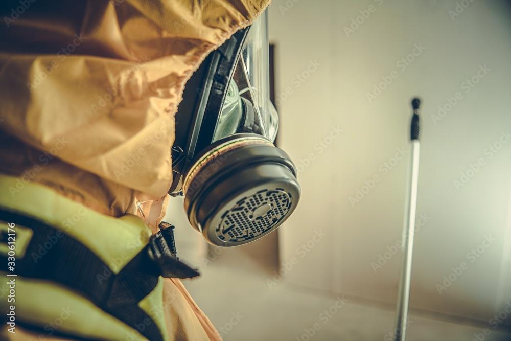 Fototapeta Interior Disinfection Procedur