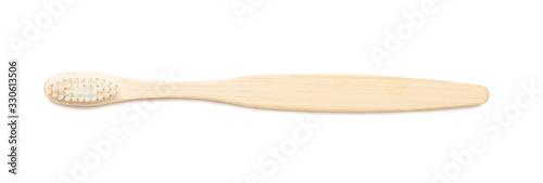 Fotografie, Obraz Wooden tooth brush on white background