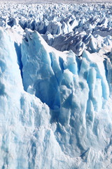 Closeup of Perito Moreno glacier. Patagonia, Argentina