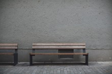 Closeup Shot Of Wooden Benches...
