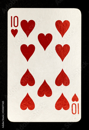 Photo Ten of Hearts Playing Card
