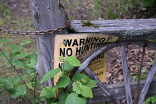 Old Sign And Gate