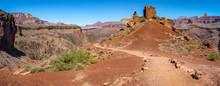 Hiking The South Kaibab Trail In Grand Canyon National Park, Arizona, Usa