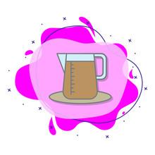 Brewed Coffee Colored Liquid B...