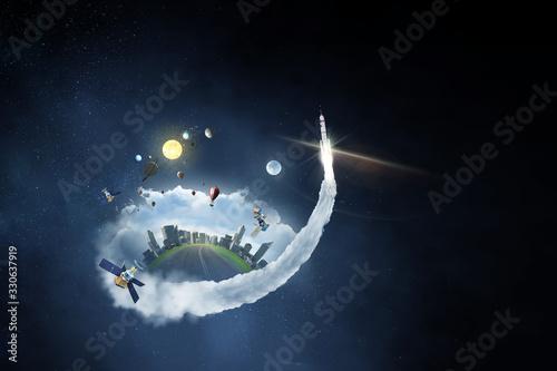 Obraz Space exploration concept . Mixed media - fototapety do salonu
