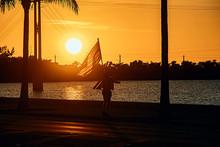 Patriot Holding American Flag(Key West)