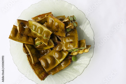Fotografie, Tablou Fried Stinky Bean/petai which is served with sliced