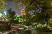 Amazing View Of San Antonio River Walk During Night At San Antonio USA