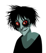 Creepypasta Horror Character With Red Eyes