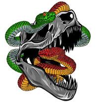 Vector Skeleton Of Tyrannosaur...