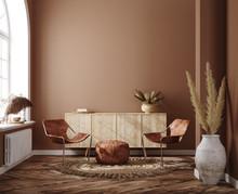 Home Interior With Ethnic Boho...
