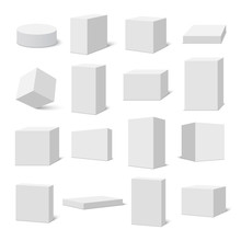 Set Of White Boxes. Vector Ill...