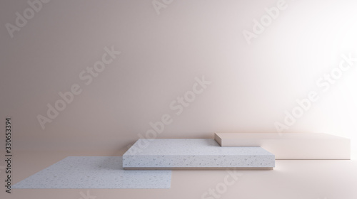3D rendering proportion in pastel color Canvas