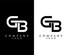 Initial Letter GB, BG Logo Template Design Vector